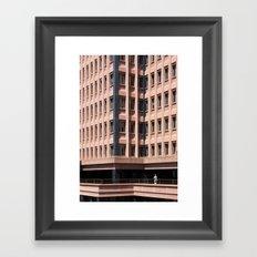 Urban loneliness Framed Art Print