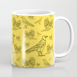 Ravens. Background of birds in different variations. Coffee Mug