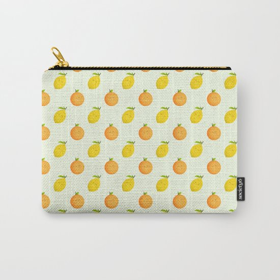 Happy Orange and Lemon Carry-All Pouch