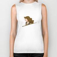 hermione Biker Tanks featuring Hermione Granger by Imaginative Ink