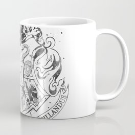 Hogwarts Crest Black and White Coffee Mug