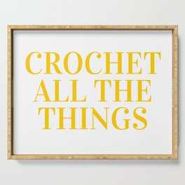 Crochet All The Things in Yellow Serving Tray