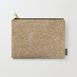 Blush Pink & Gold Glam Glitter Sparkle Carry-All Pouch