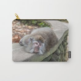 Crab-eating Macaque V (Balinese Monkey) Carry-All Pouch