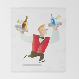 Waiter Throw Blanket