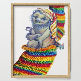 Sloth in a Sock Serving Tray