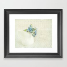 vintage greeting  Framed Art Print