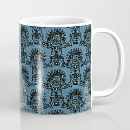 Blue Ancient Mexican Myth Coffee Mug