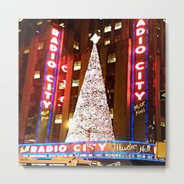 Radio City Music Hall Tree 2 Metal Print