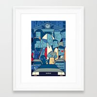 back to the future Framed Art Prints featuring Back to the Future by Ale Giorgini