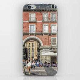 Relaxing cup in Plaza Mayor, Madrid iPhone Skin