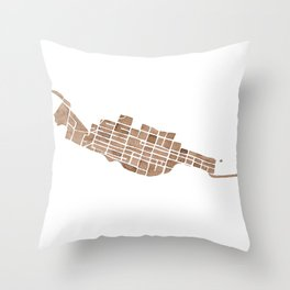 Telluride Colorado Map Throw Pillow