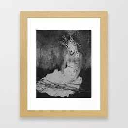 The Witch's Decision Framed Art Print