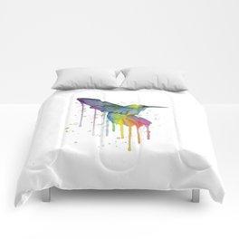 Hummingbird Watercolor Comforters