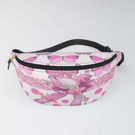 Pretty Pink Butterflies Fanny Pack