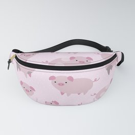 Cute Pink Piglets Pattern Fanny Pack