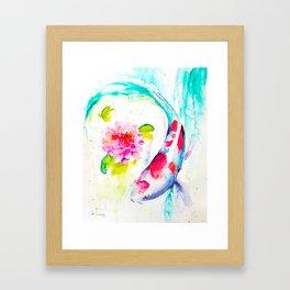 Koi Love Framed Art Print