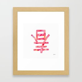 Lunar New Year Spring's Here Framed Art Print