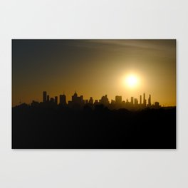 Melbourne City Skyline Canvas Print