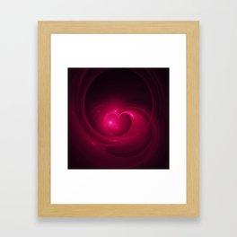 Here Is My Heart Fractal Framed Art Print