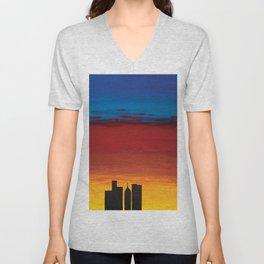 City Morning Unisex V-Neck