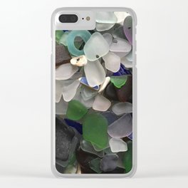Sea Glass Assortment 3 Clear iPhone Case