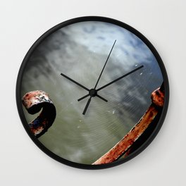 Curved rust Wall Clock