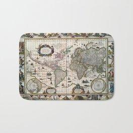 Map Nova totius terrarum orbis geographica (1635) Bath Mat