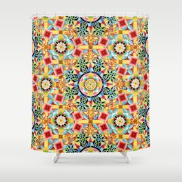 Nouveau Chinoiserie Shower Curtain