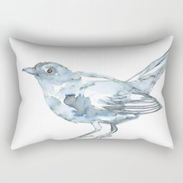Nightingale Watercolor Sketch Rectangular Pillow