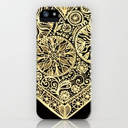 golden heart I love you iPhone Case