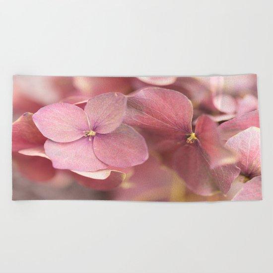 Hortensia Flower Beach Towel