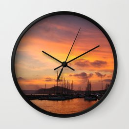 Sunset in the Bay of Naples Wall Clock