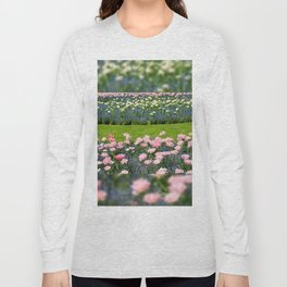 Pink Foxtrot tulips with blue forget-me-nots mix Long Sleeve T-shirt
