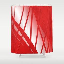 Thunderbird Orange Strings Shower Curtain