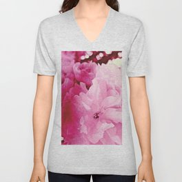 Plum Blossoms-Flowering For No One, No Reason Unisex V-Neck