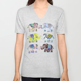 Elephant Collection – Cool Palette Unisex V-Neck