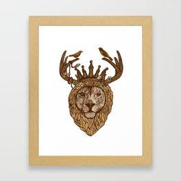 LION KIND Framed Art Print