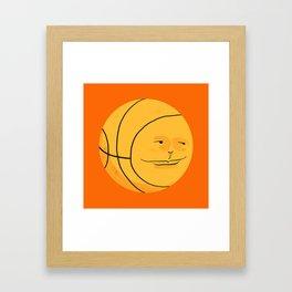 Happy Bouncing Basketball Framed Art Print