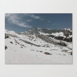 Glacier Snowfield Canvas Print