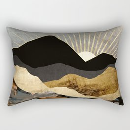 Copper and Gold Mountains Rectangular Pillow