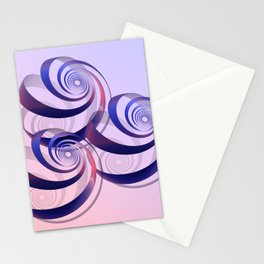 connected spirals Stationery Cards