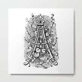 Monogram A Metal Print