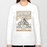 cafe racer Long Sleeve T-shirts featuring CAPTIAN RACER by Morselli Mattia