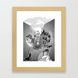 Mekaku city Framed Art Print