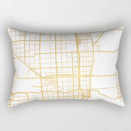 MIAMI FLORIDA CITY STREET MAP ART Rectangular Pillow