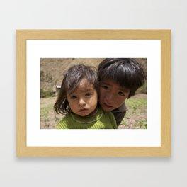 Peru: Kids Framed Art Print