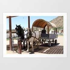 Arizona Horses Art Print