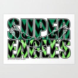 Nigeria Super Eagles ~Group D~ Art Print