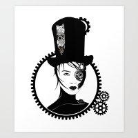 top gear Art Prints featuring Gear Girl by DespairLegion